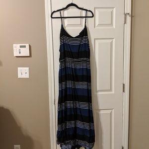 Old Navy Blue and Black Striped Maxi Dress sz XXL